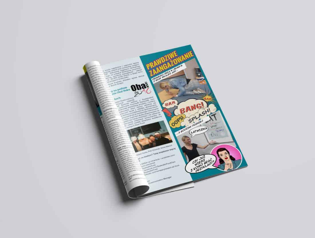 gazetka firmowa - projekt i skład dtp